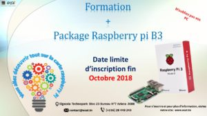 E.S.A.T organise une formation Raspberry pi + kit Raspberry pi B3